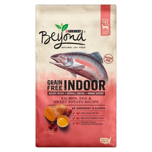 Purina Beyond Cat Food >> Purina® Beyond Indoor Grain Free Salmon, Egg & Sweet Potato Recipe Dry Cat Food : Target
