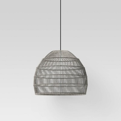 Large LED Solar Pendant Gray - Project 62™