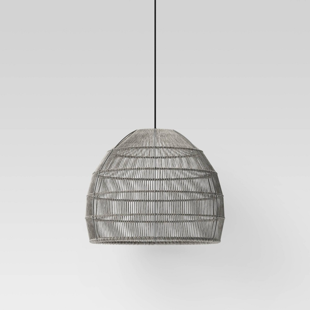 Image of Large LED Solar Pendant Gray - Project 62