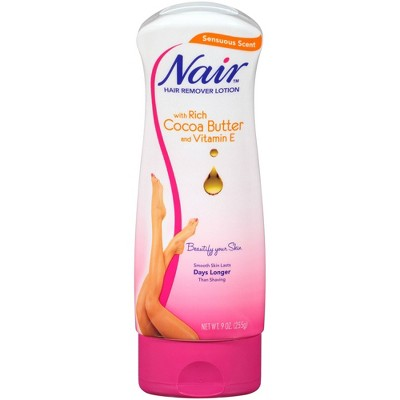 Nair Hair Remover Cocoa Butter Hair Removal Lotion - 9.0oz
