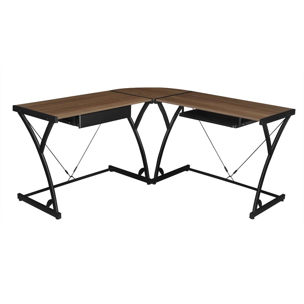 Soho Computer Corner Desk Mocha Walnut (Brown) - Niche