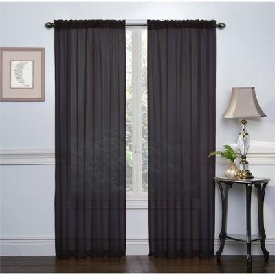 GoodGram 2 Pack: GoodGram Ultra Luxurious Sheer Voile Curtains - 52 in. W x 84 in. L