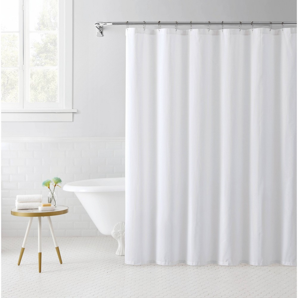 Image of Solid Shower Curtain White - Freshee