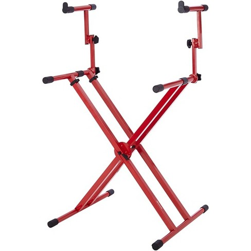 Gator 2-Tier X-Style Keyboard Stand - Nord Red - image 1 of 1