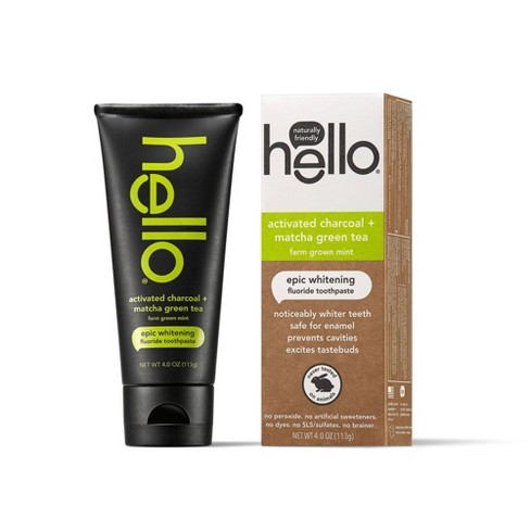 Hello Activated Charcoal Matcha Green Tea Epic Whitening