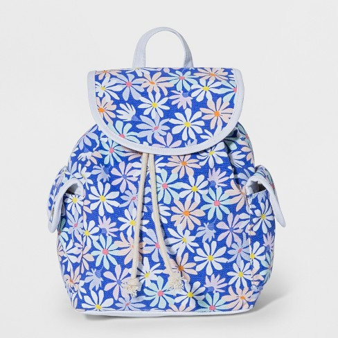 9d27a24aa629 Girls  Floral Print Mini Backpack - Cat   Jack™ Blue   Target