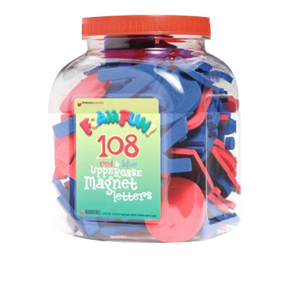 Dowling Miner Foam Fun 112 Magnetic Letters, Uppercase, set of 112