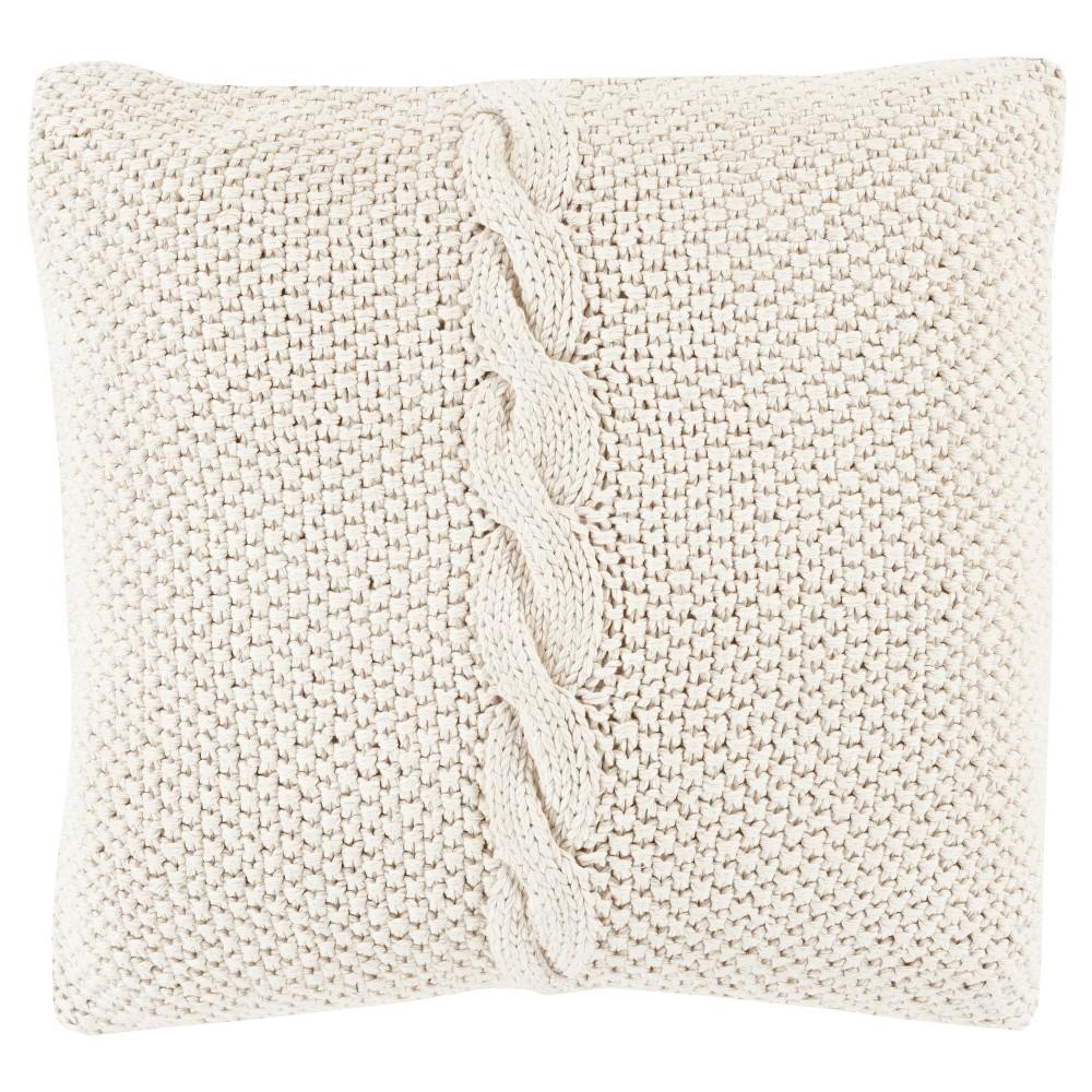 Khaki (Green) Anaco Handmade Throw Pillow (22x22