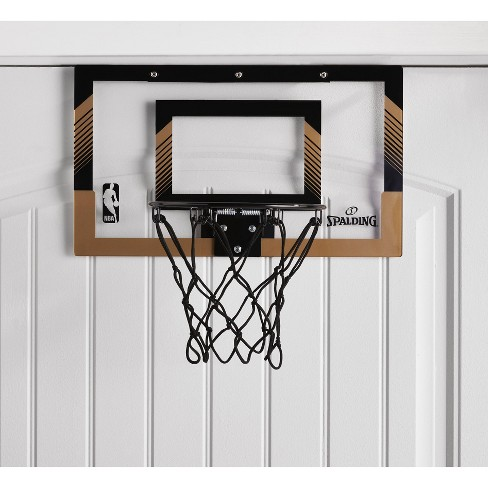 Spalding NBA Slam Jam Over-The-Door Black & Gold Edition Basketball Hoop - image 1 of 4