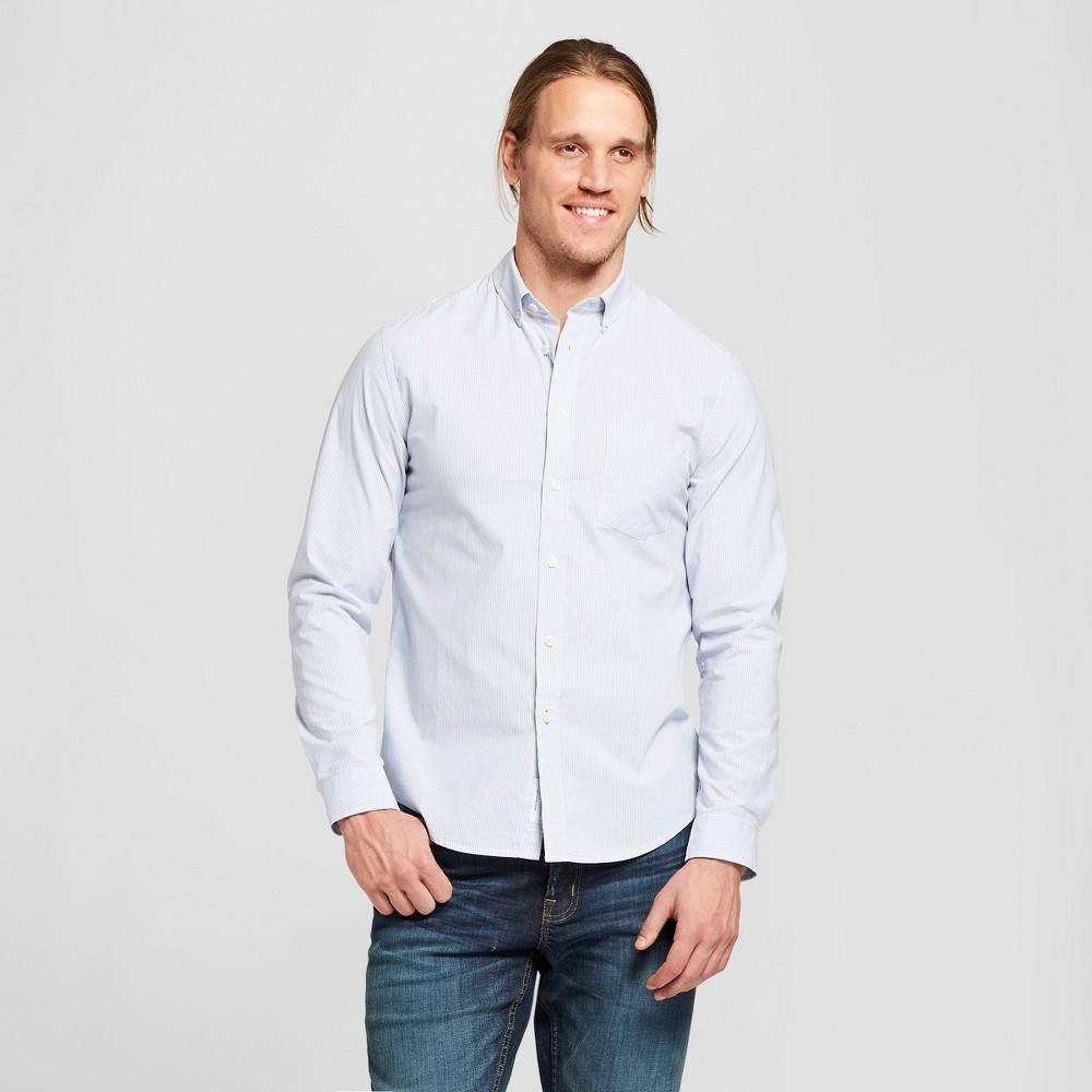 Men's Standard Fit Northrop Long Sleeve Button-Down Shirt - Goodfellow & Co Amparo Blue 2XL