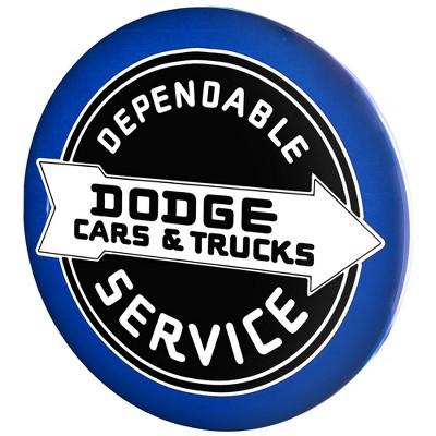 Licensed Dodge Cars and Trucks Dome Metal Sign Dark Blue/Black - Crystal Art Gallery