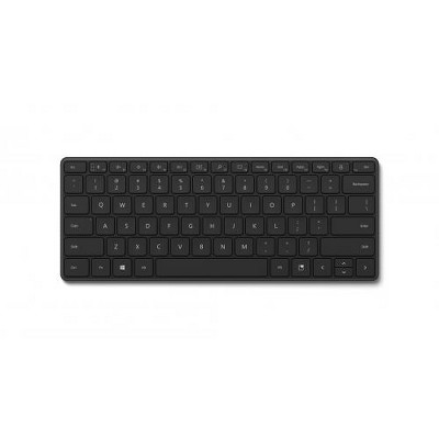 Microsoft Designer Compact Keyboard Matte Black - Bluetooth 5.0 Connectivity - 2.40 GHz Operating Frequency - Dedicated Emoji Key