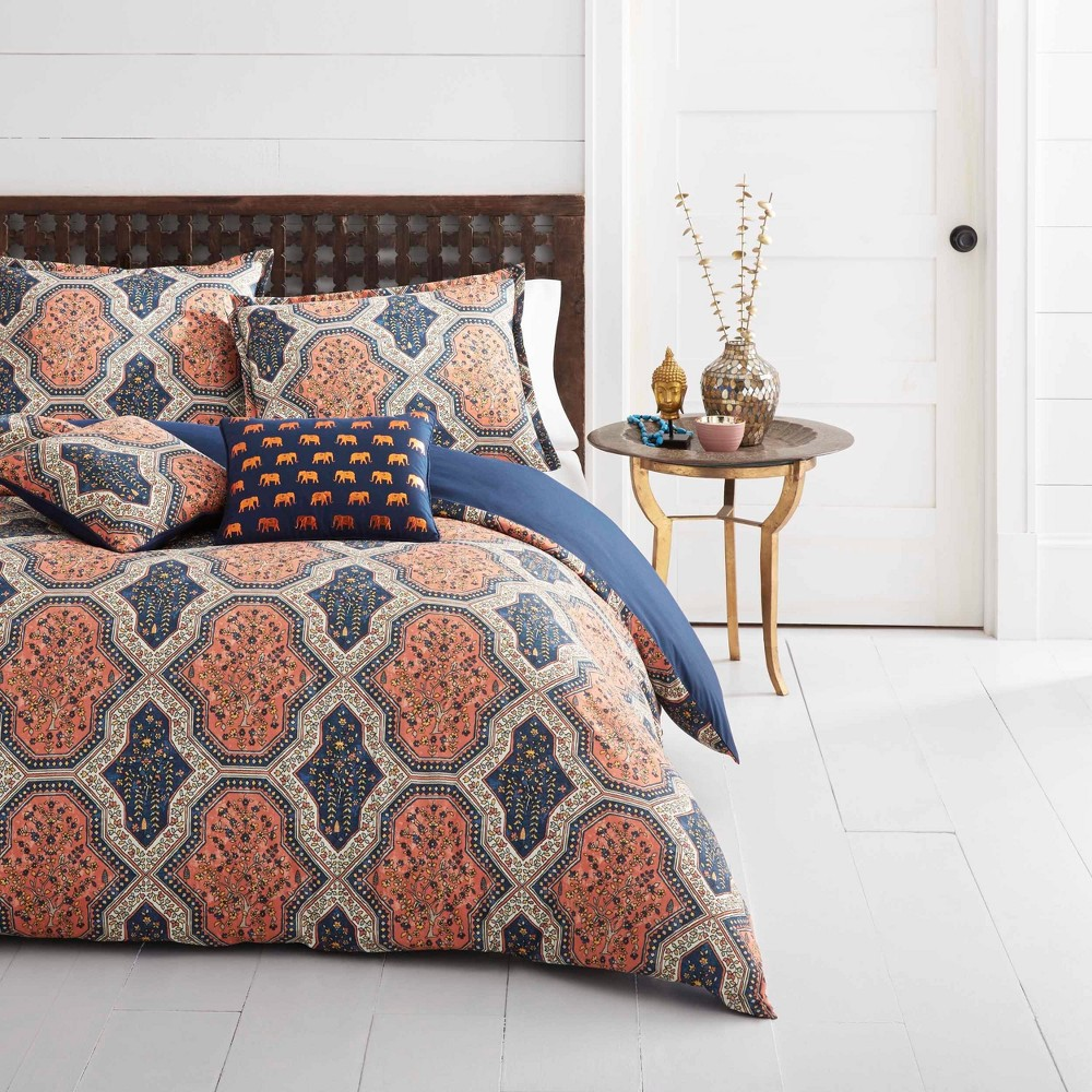 Orange Rhea Quilt Set (Full/Queen) - Azalea Skye