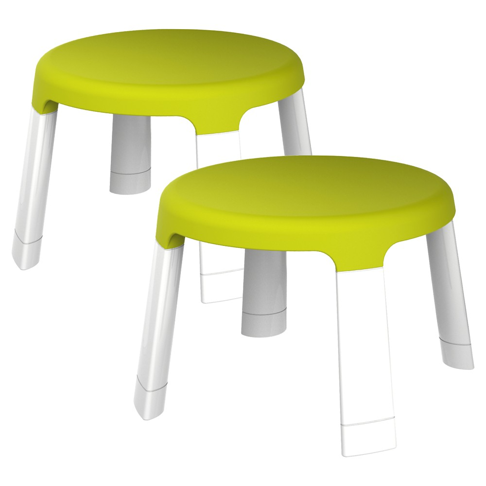 Image of Oribel PortaPlay Child Stools-Pack of 2 - Green, White Green