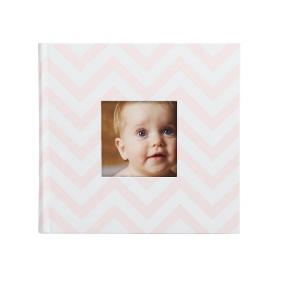 Pearhead Chevron Photo and Scrapbook Album - Pink