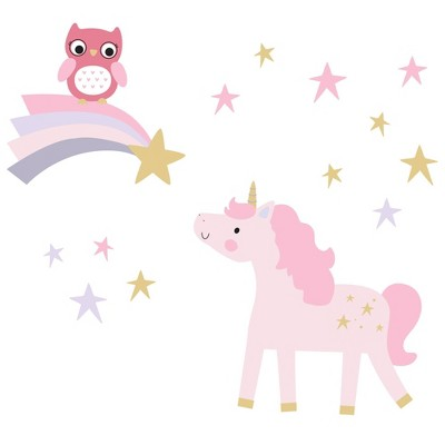 Bedtime Originals Wall Decals - Rainbow Unicorn