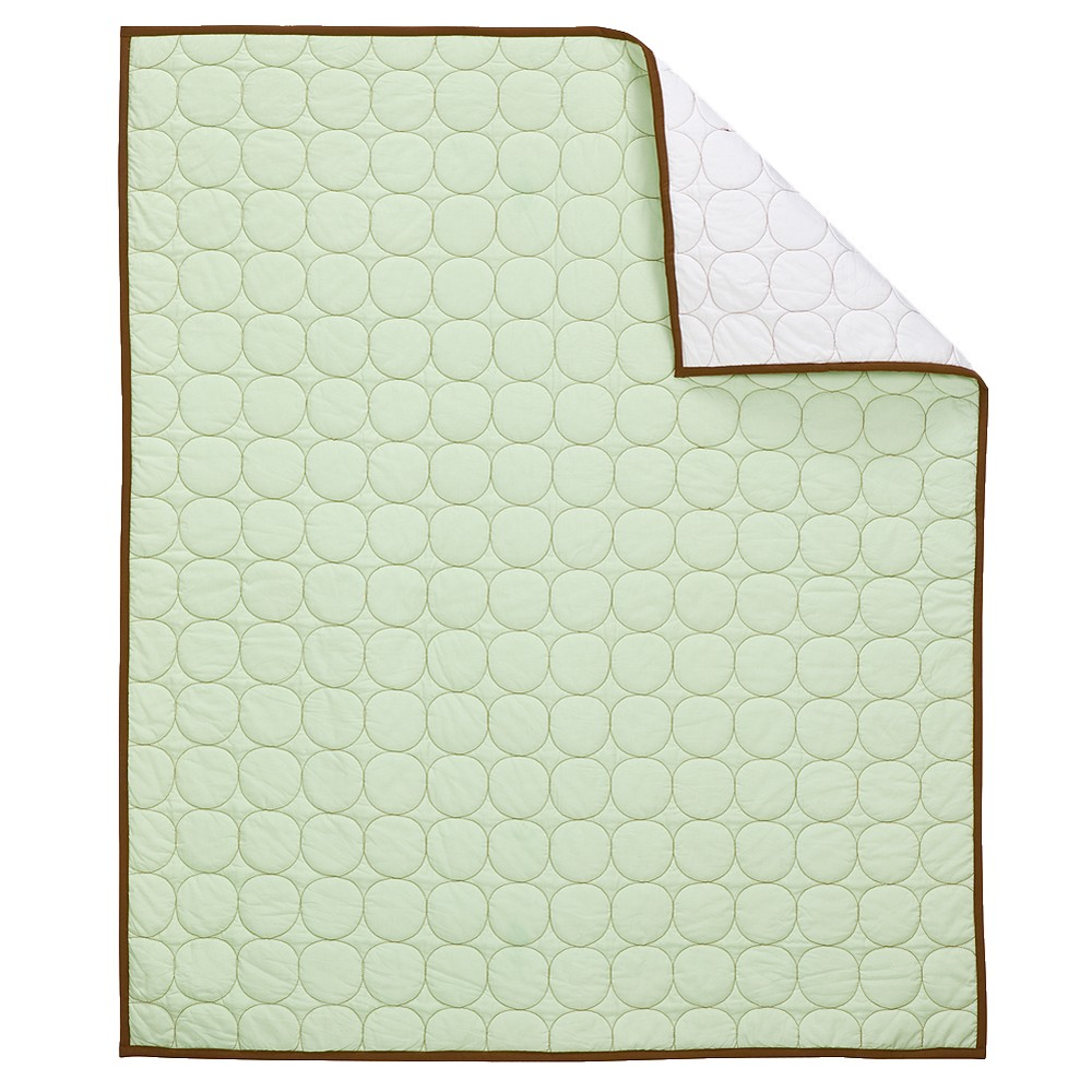 Image of Bacati Quilted Baby Quilt Green/Chocolate