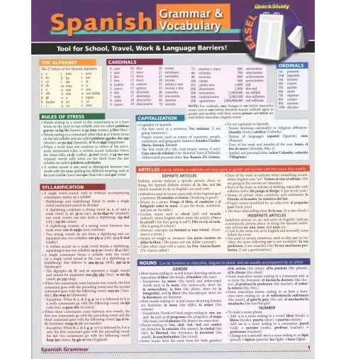 Spanish Easel : Reference, Remind, Study & Know (Paperback) (Dora Romero & William Bengston & Liliane - image 1 of 1