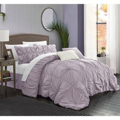 Queen 6pc Hyatt Comforter Set Lavender - Chic Home Design