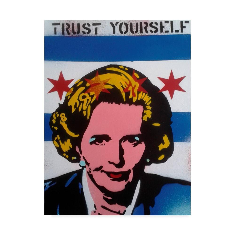 24 34 X 32 34 Trust Yourself By Abstract Graffiti Trademark Fine Art