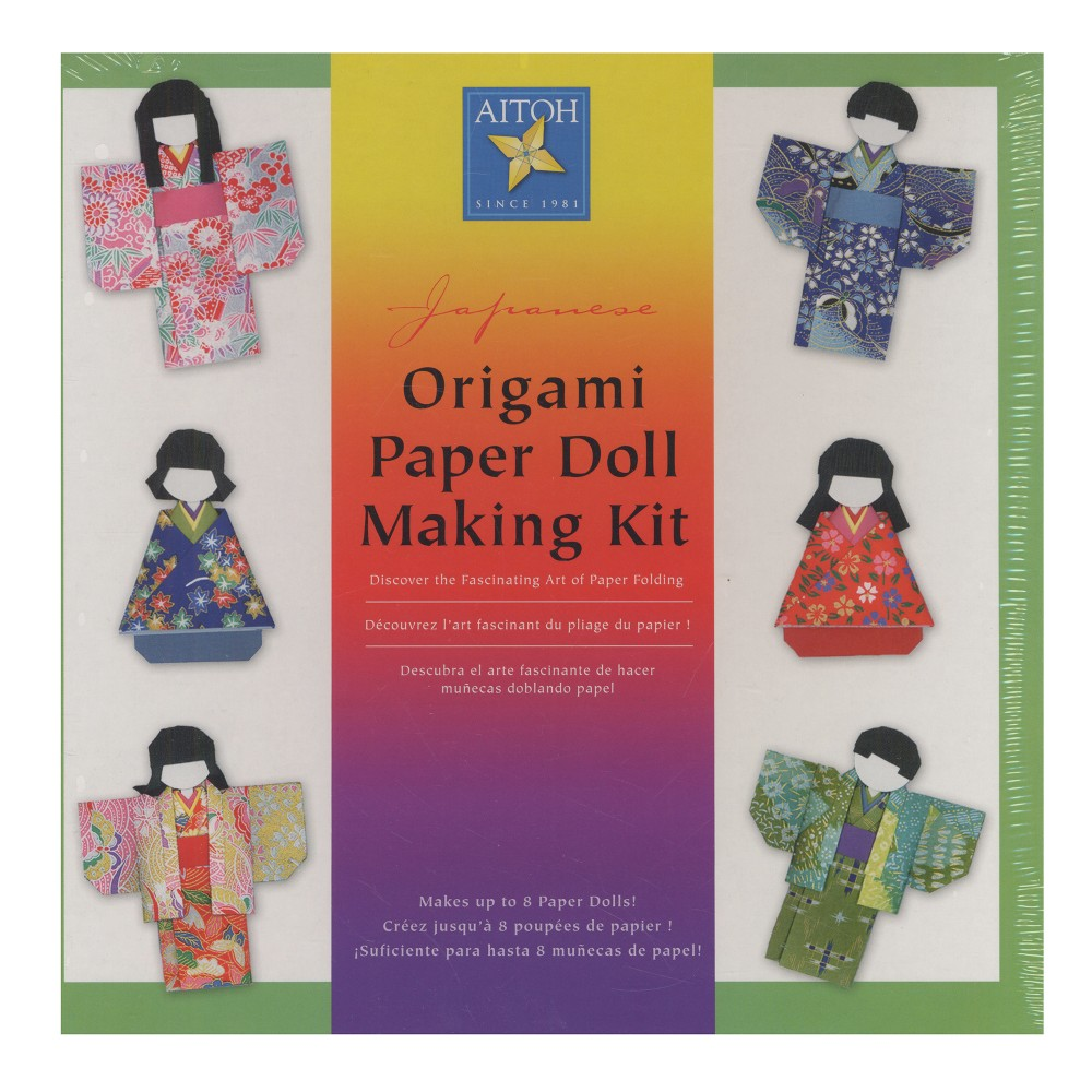 Origami Paper Doll Making Kit - Aitoh, Multi-Colored