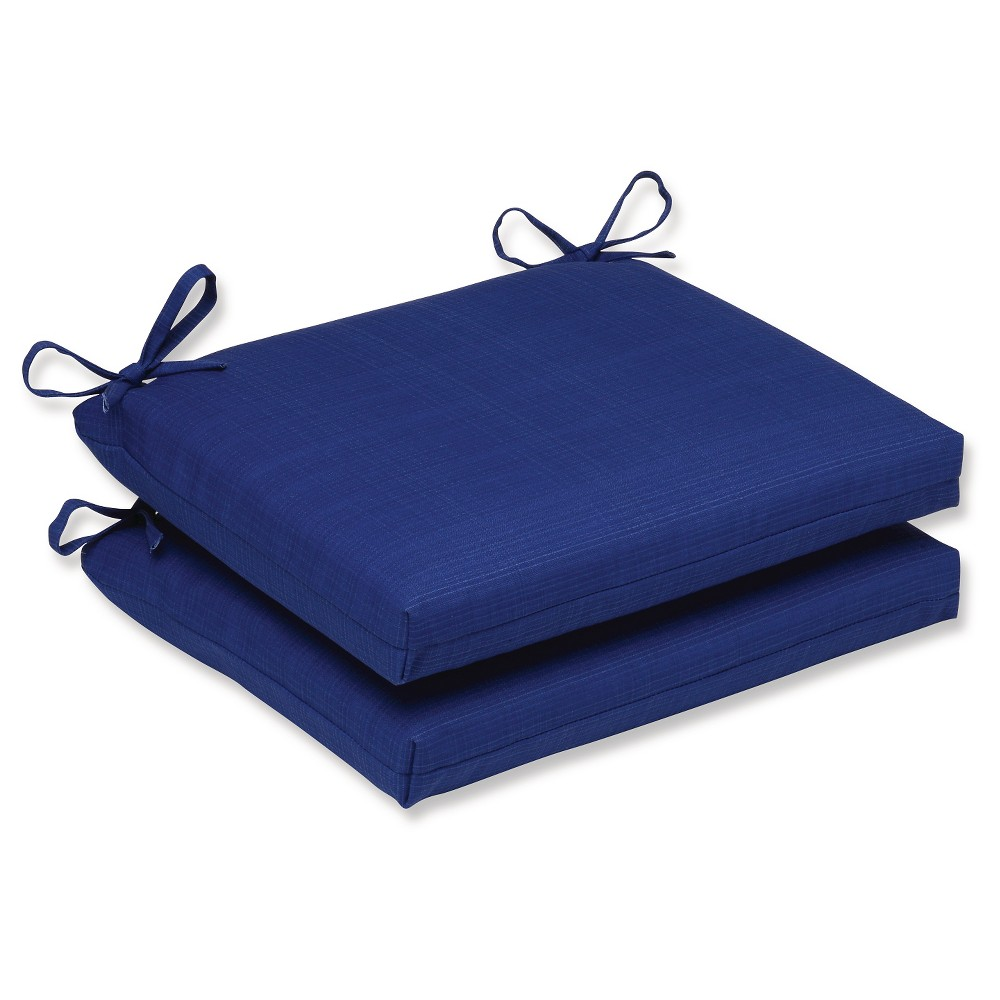 Outdoor 2-Piece Square Seat Cushion Set - Navy Fresco Solid, Navy Solid