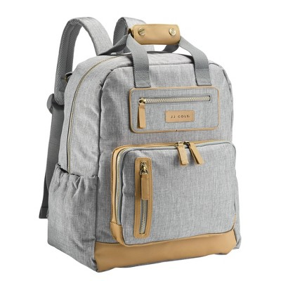 JJ Cole Papago Pack Diaper Bag - Heather Gray