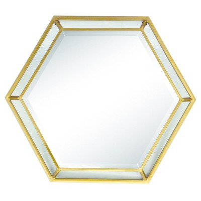 Hexagon Wall Mirror - Home Source