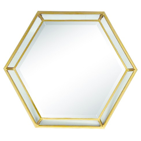 Hexagon Wall Mirror - Home Source - image 1 of 2