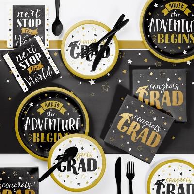 Grad Adventure Party Supplies Kit