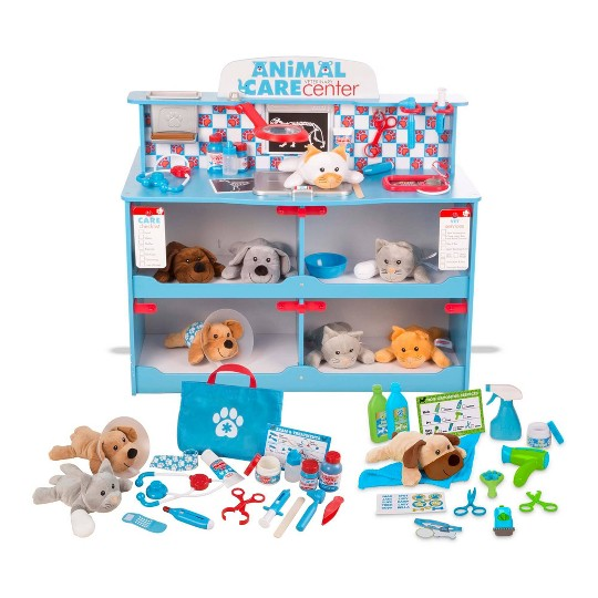 Melissa & Doug Animal Care Veterinarian and Groomer Wooden Activity Center image number null