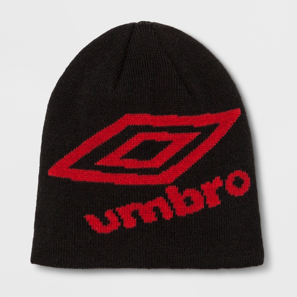 Umbro Youth Knit Skully Hat - Black, Boy's