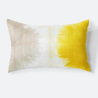 Kira Tie-Dye Sunshine Throw Pillow Yellow - NFC Home