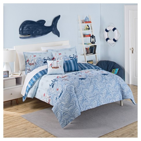 Ride the Waves Reversible Comforter Set - Waverly Kids - image 1 of 1