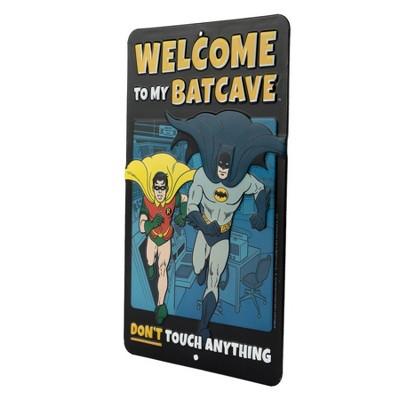 Batman Welcome to the Batcave Die Cut Emb Tin