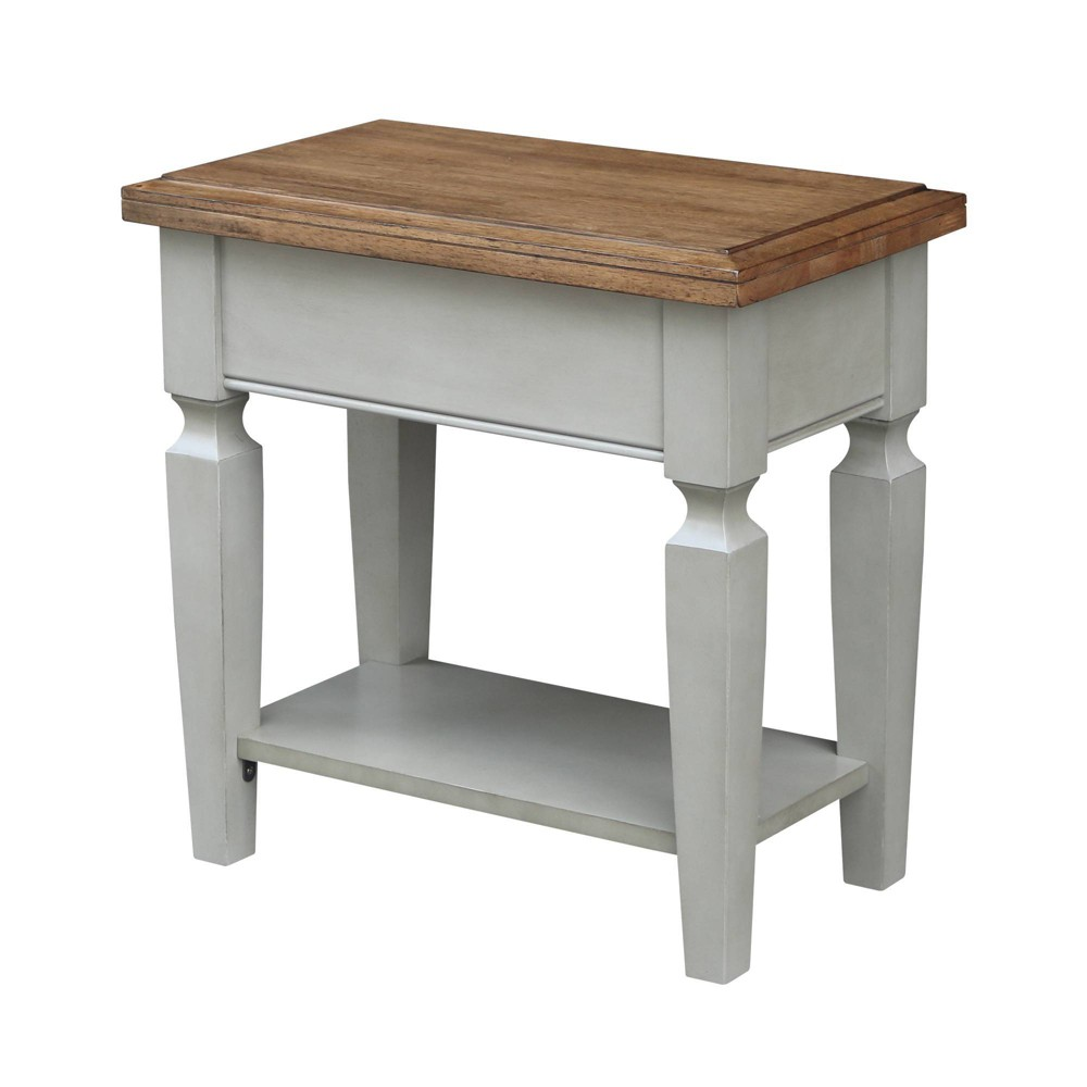 Vista Side Table Natural/Gray - International Concepts, Multicolored
