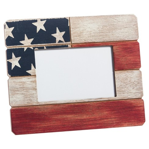 American Flag Wooden Photo Frame - image 1 of 2