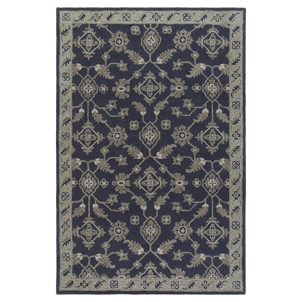 Navy Blue Abstract Tufted Area Rug - (6'x9') - Surya