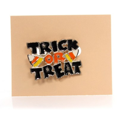 "Jewelry 1.0"" Trick Or Treat Pin Halloween Candy Corn Brooch  -  Costume Jewelry"