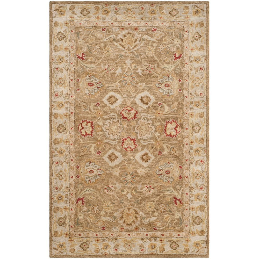 Floral Tufted Area Rug Brown/Beige