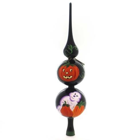 Laved Italian Ornaments Halloween Ghost Pumpkin Finial Italian  -  Tree Ornaments - image 1 of 2