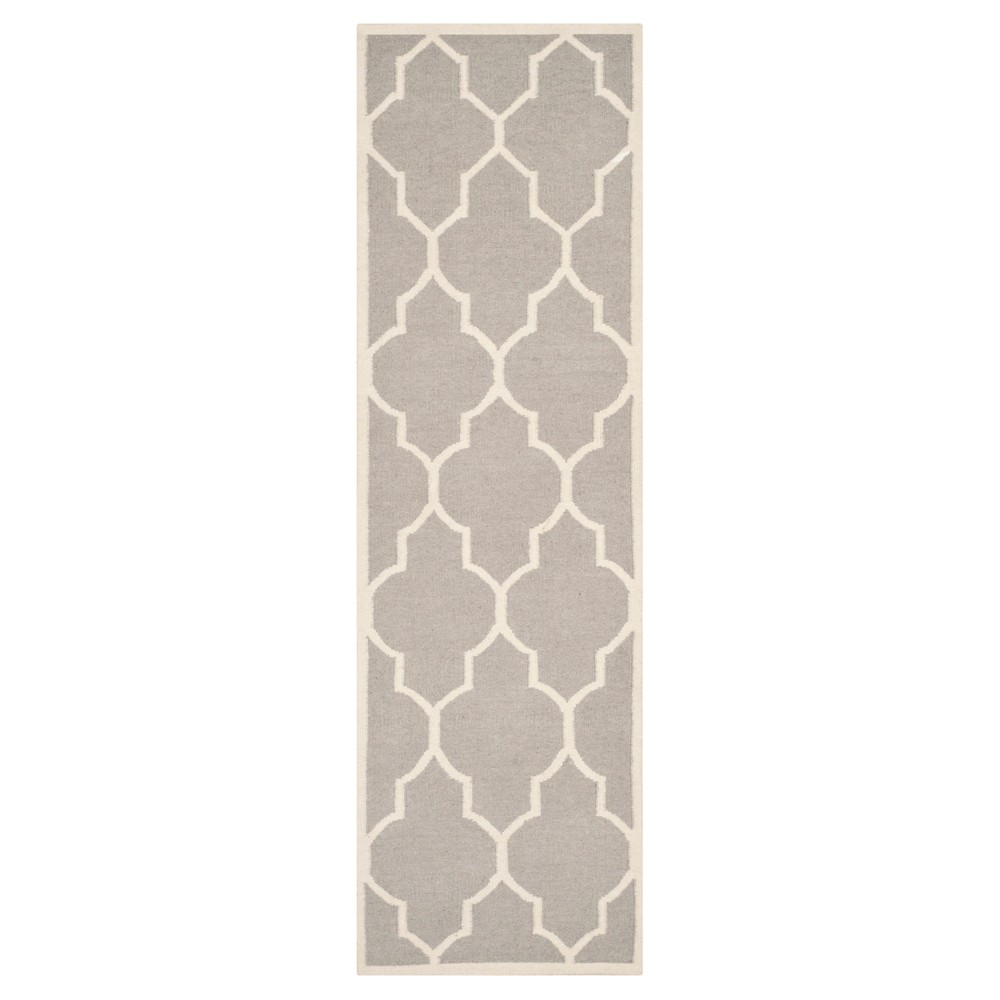 Buy Alarice Dhurry Rug - Dark Gray Ivory - (26x12) - Safavieh