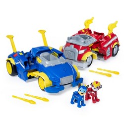 PAW Patrol Marshall and Chase Powered up Vehicles Dual Pack