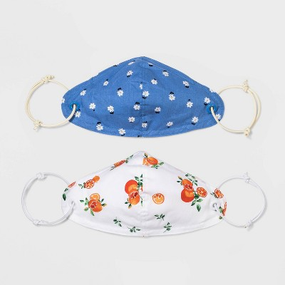 Women's 2pk Adjustable Fit Face Mask - Wild Fable™ One Size