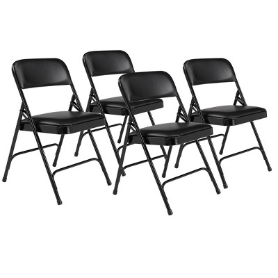 Set of 4 Premium Vinyl Padded Folding Chairs - Hampton Collection