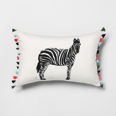 Zebra Lumbar Throw Pillow - Opalhouse™