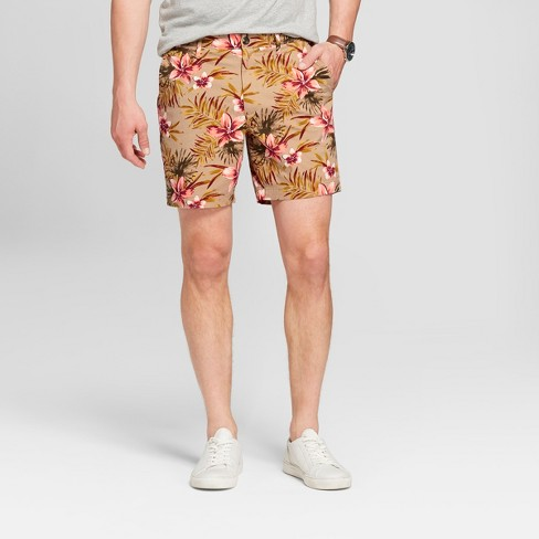 "Men's 7"" Floral Linden Flat Front Shorts - Goodfellow & Co™ Multi Floral 30 - image 1 of 3"