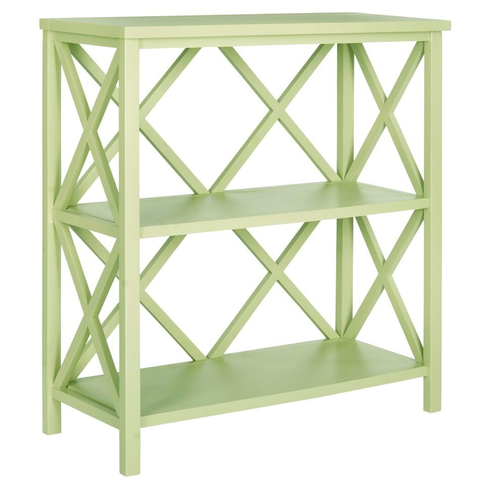Cava Bookcase 35.6 Green - Safavieh, Split Pea