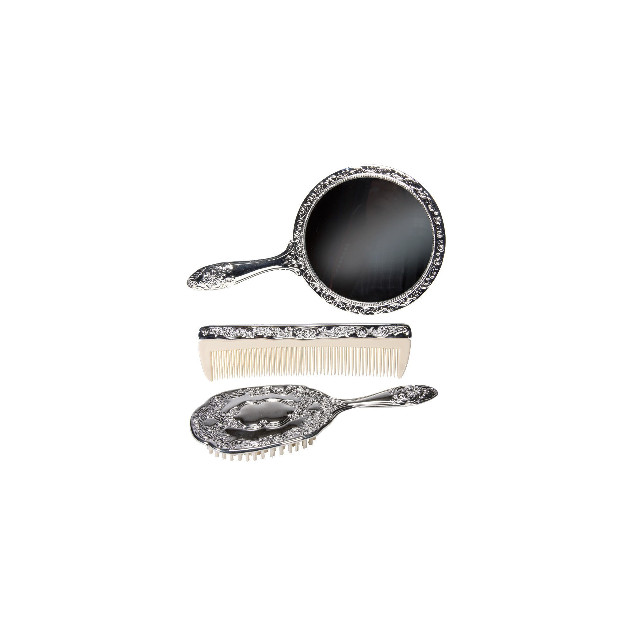 Harry Koenig Silver-Plated Vanity Set - 3 pc