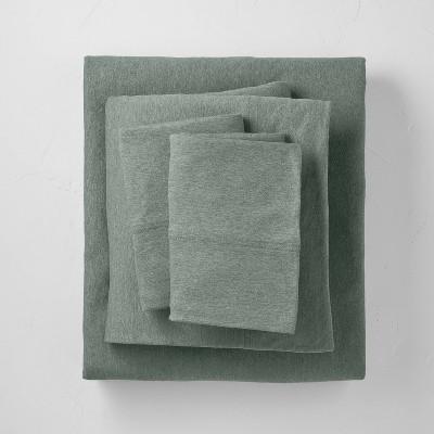 King Lycocell Jersey Solid Sheet Set Sage Green - Casaluna™